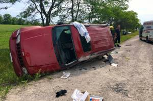 Jeep, car collide on County Road 29 near Lakefield (00:31)