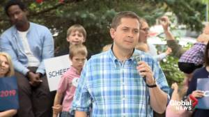 Federal Election 2019: Scheer asked about PC candidate's association with Faith Goldy