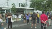 Play video: Parents, teachers and students protest Quebec back-to-school plan