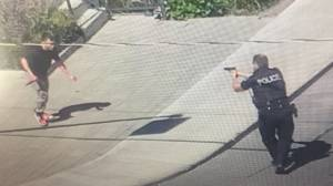 Cellphone videos show scene from violent Kingston stabbing as police engage suspect