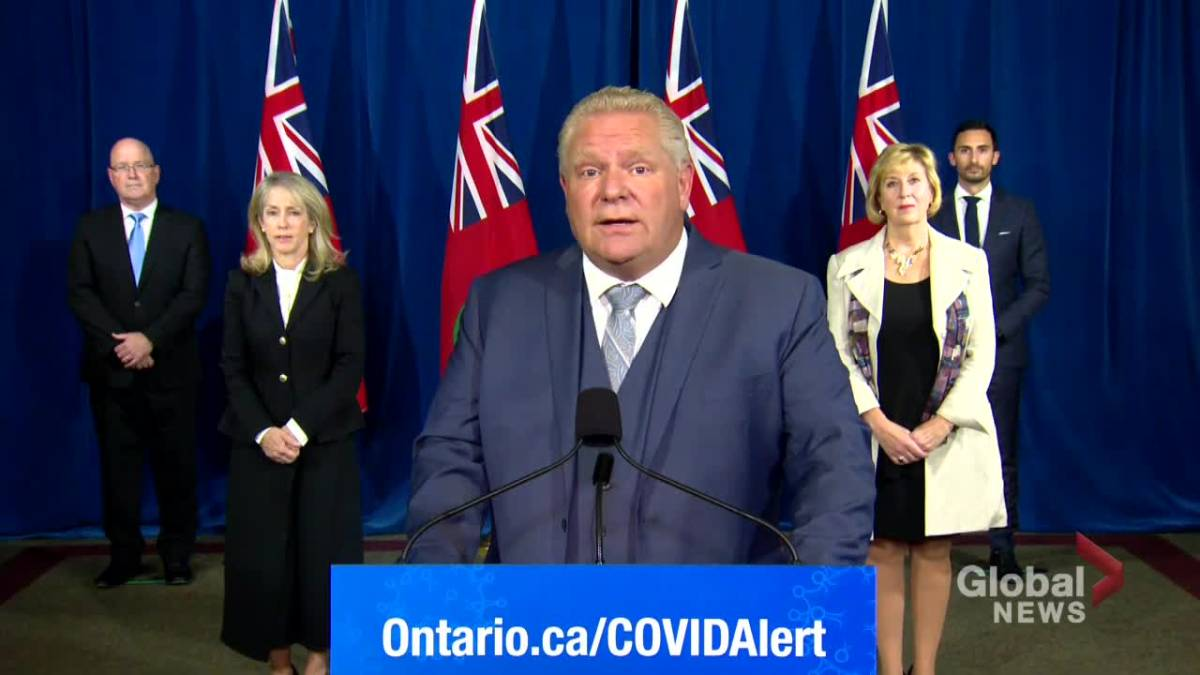Click to play video 'Coronavirus: Ontario Premier Ford announces $1-billion COVID-19 Resilience Stream program for infrastructure funding'