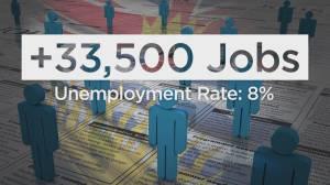 Statistics Canada release October job numbers (02:34)