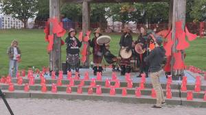 Missing and murdered Indigenous women honoured at Vancouver gatherings (01:05)