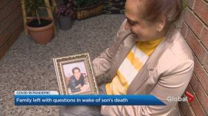 Brampton family asks questions in wake of son's COVID-19 death (02:02)