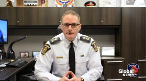 Coronavirus: London, Ont., police chief addresses enforcement concerns over province's stay-at-home order (04:36)