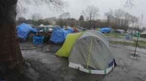 City of Vancouver hires third party to deal with tent city (01:44)
