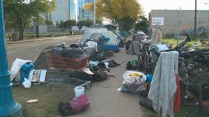 Province reacts to Edmonton homeless camps being taken down