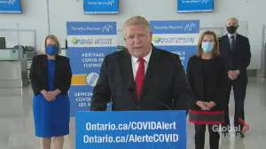 Coronavirus: Ford says Ontario is 'running out' of COVID-19 vaccines (01:48)
