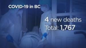 B.C. reports 112 new COVID-19 cases, four new deaths (04:45)