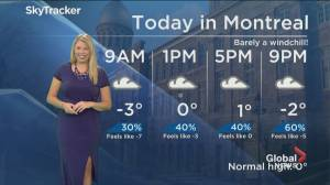 Global News Morning weather forecast: Wednesday December 4, 2019