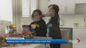 While battling cancer, a young Oakville  girl was granted a wish so life-changing she wants to wish-it- forward