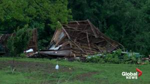 Tornado moves through Tennessee causing widespread damage, no injuries reported (00:57)