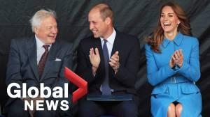 Kate Middleton, Prince William join Sir David Attenborough at polar ship naming ceremony