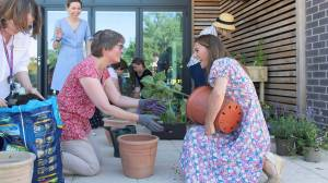Coronavirus: Duchess Kate Middleton plants garden during children's hospice visit
