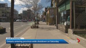 Ontario government imposes provincewide COVID-19 shutdown restrictions (01:49)