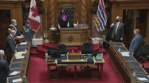 Throne speech kicks off brief B.C. legislature session (02:34)