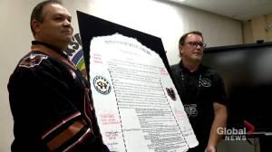 Calgary Hitmen sign memorandum with Siksika Nation to address racism (01:21)