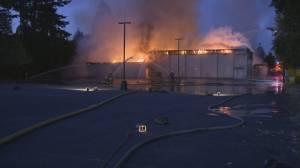 Surrey church destroyed in a suspicious fire (01:57)