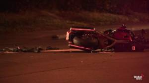 Edmonton motorcycle driver taken to hospital