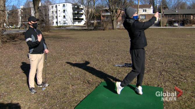 Click to play video: New Year's Resolution: Fixing my golf swing in the middle of a pandemic
