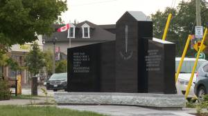 Brooklin Legion unveils new cenotaph honouring veterans