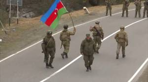 Nagorno-Karabakh conflict: Azeri army takes control over Kalbajar district (02:03)