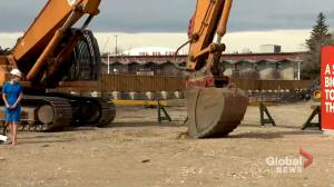 Calgary breaks ground on $500M convention centre expansion in Stampede Park (01:56)