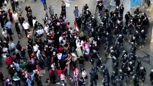 Lebanon protesters attack MP convoy on route to parliament