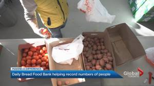 Daily Bread food banks serving 25,000 individuals weekly (03:12)
