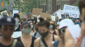 Calls for change during anti-racism march in downtown Toronto