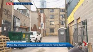 Toronto police lay charges following massive booze-fuelled party (01:39)