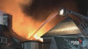 West Island's Académie Sainte-Anne sustains millions in damage after fire (00:55)