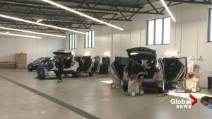 New Bubbles Car Wash in Edmonton is the first of its kind in Canada (01:08)