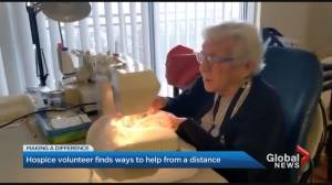Oakville hospice shines light on 92-year-old volunteer Audrey Thomson (03:07)
