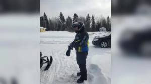 RCMP searching for missing Manitoba snowmobiler (00:29)