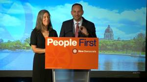 Saskatchewan NDP Leader Ryan Meili waiting to see if he is re-elected (01:08)