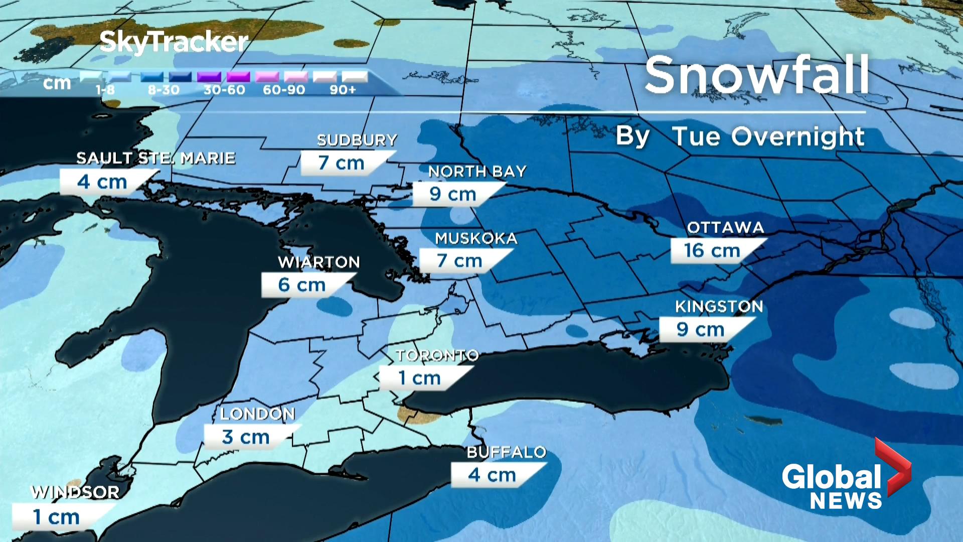 Global Toronto Weather Jan. 18