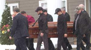 Jack Moon is laid to rest by family and friends