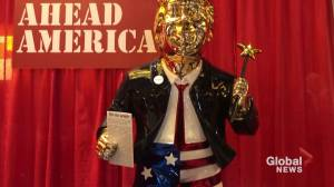 With gold-coloured Trump statue, conservatives show fealty to former president (02:17)