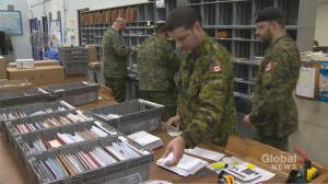 Canadian Forces Postal Unit processing thousands of holiday greetings for troops (02:11)