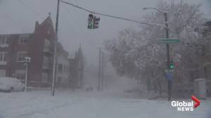 Powerful winter storm blankets Midwest US with snow (04:57)