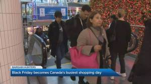 Black Friday bargain hunters are out in full force in Toronto searching for the perfect rock bottom deal