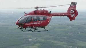STARS air ambulance soaring above the Prairies