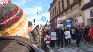 High school teachers from the Limestone school board hold one day strike