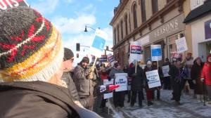 High school teachers from the Limestone school board hold one day strike