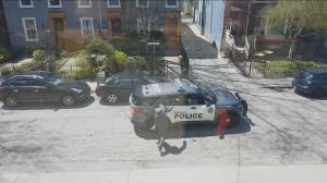 Extended video of Toronto police arrest of suspect throwing rocks