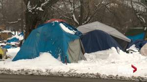 Edmonton Convention Centre shelter capacity questioned as homeless camps close for the winter (01:42)
