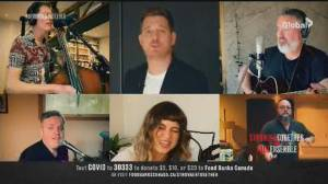 """Stronger Together:  Michael Bublé, Barenaked Ladies, and Sofia Reyes come together to perform """"Gotta Be Patient"""" in support of frontline workers and Food Banks Canada"""