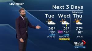 Edmonton afternoon weather forecast: Monday, June 21, 2021 (04:16)