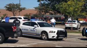 Tennessee police on scene of shooting at Kroger grocery store (01:40)